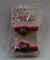 Pair of princess ponio bobbles - assorted colours (Code 0019)